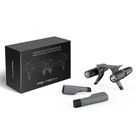 PGYTECH - Mavic Pro LED Headlight Set & Landing Gear Extensions